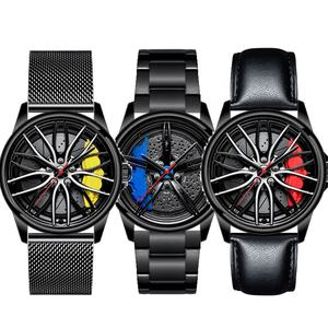 Alloy Logo The Roulette 3D Sport Car Wheel Watch