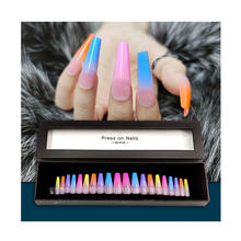 New Fake Nails Product Ideas 2020 Long Coffin Artificial Nail Full Cover Designed Press on Nails with Box