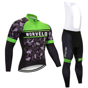winter long sleeve cycling jersey sets  jersey and pants cycling wear  bicycle riding suit