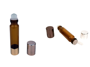5ml 10ml Double ended Frosted Eye roller on glass bottle