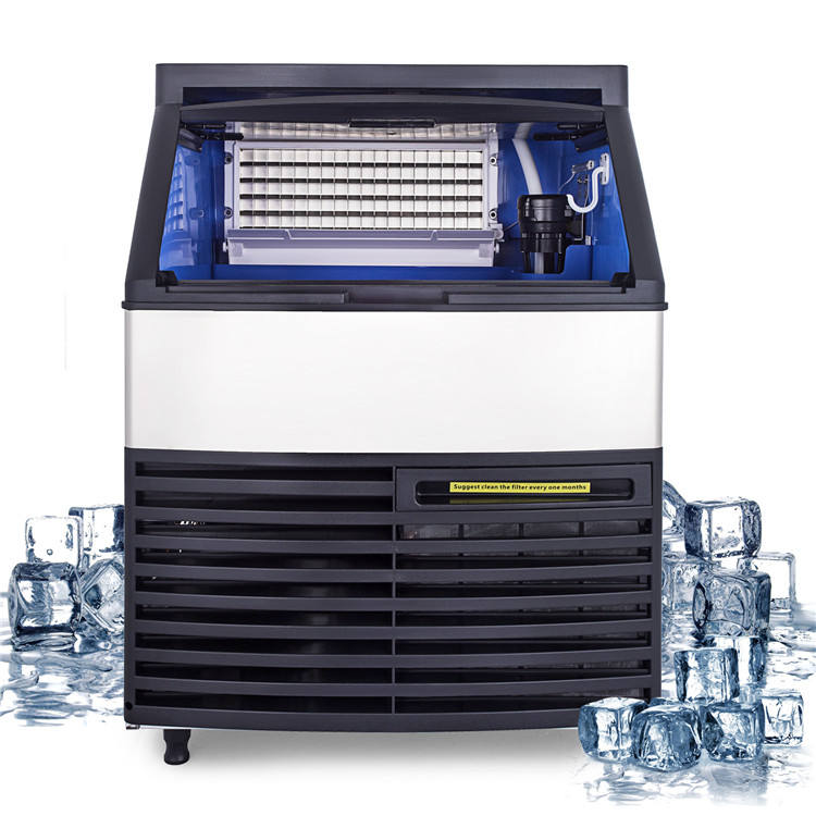 Commercial Ice Maker LCD Control Panel Ice Cube Making Machine 130kg