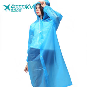 SW8027 custom Adult Non-Disposable PE Rain Poncho raincoats