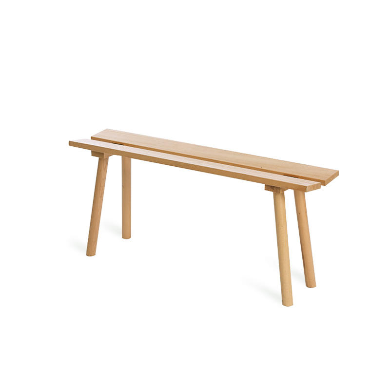 modern indoor outdoor wooden bench Outdoor Wooden Small Concave Bench