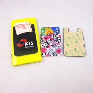 Wholesale promotional gifts 3M sticker silicone phone case card holder wallet 2020