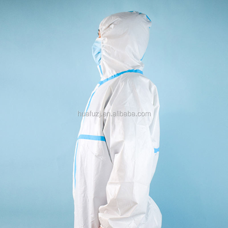 polyester isolation gown level 3 impermeable polyurethane fabric hospital gown polipropilen disposable gown