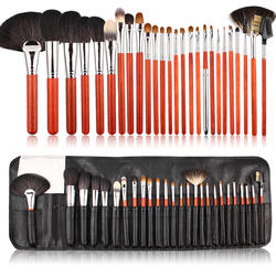 High End Wood Fine Animal Hair Luxury 26pcs Sable Makeup Brushes Set For Cosmetic Apply Brochas de Maquillaje With Wood Handle