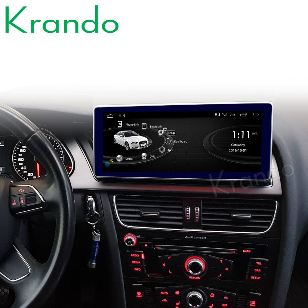 Krando Android 10.0 4G 128G 10.25 ''IPS Screen Car Radio Player Navi für Audi A4 A4L A5 2009-2016 Audio GPS Carplay