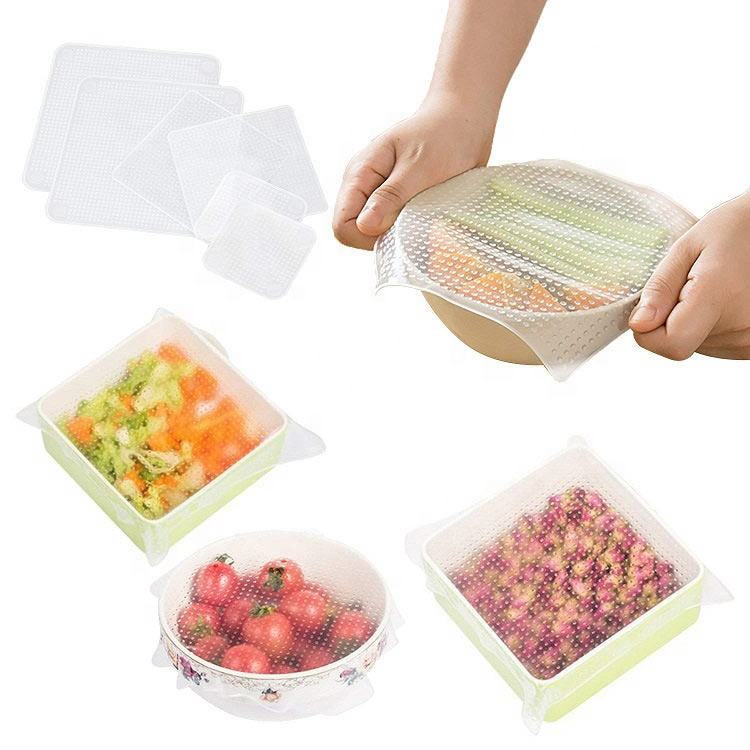 Eco-Friendly Reusable Silicone Stretch Food Grade Cling Film