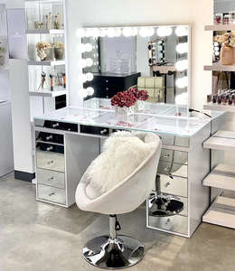 2020 slaystion make-up station studio dressing tisch mit beleuchteten make-up spiegel schlafzimmer möbel eitelkeit tabelle salon schönheit tisch