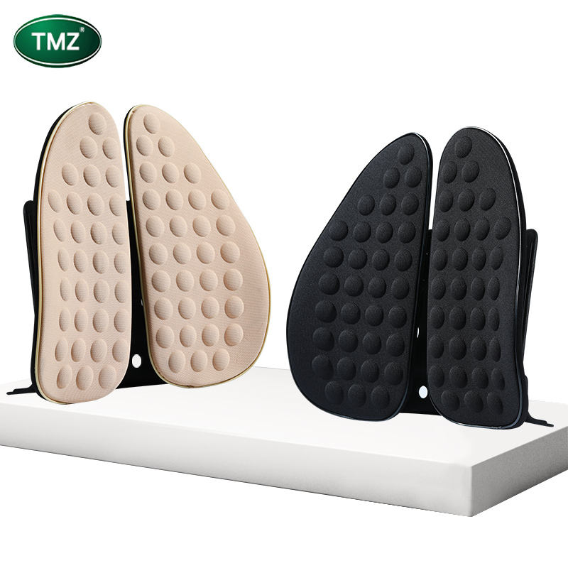 2020 Car Seat Chair Massage Back Lumbar Support polyester Ventilate Cushion Pillow Pad lumbar support pillow inflatable for car