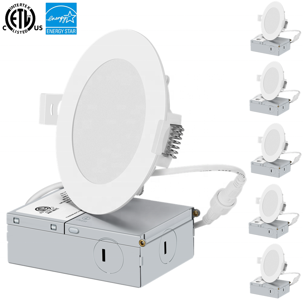 "ETL & Energy Star 인증 4 ""9W Dimmable Recessed 슬림 LED 패널 라이트"