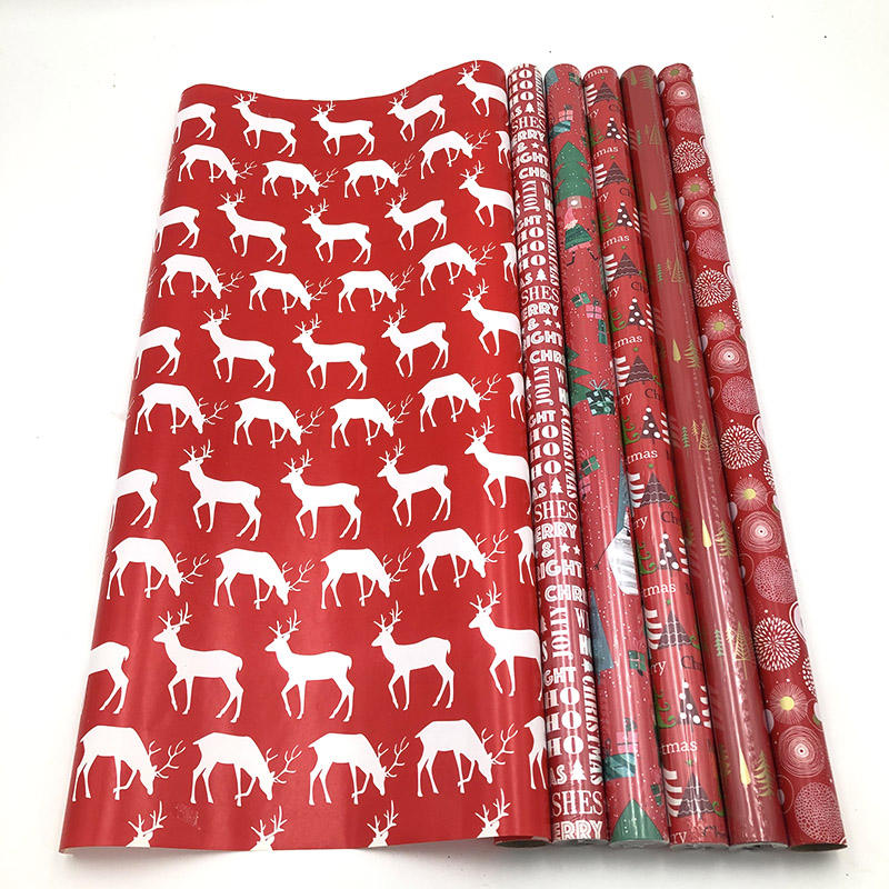 Christmas Pattern Printed Gift Wrapping Paper Roll