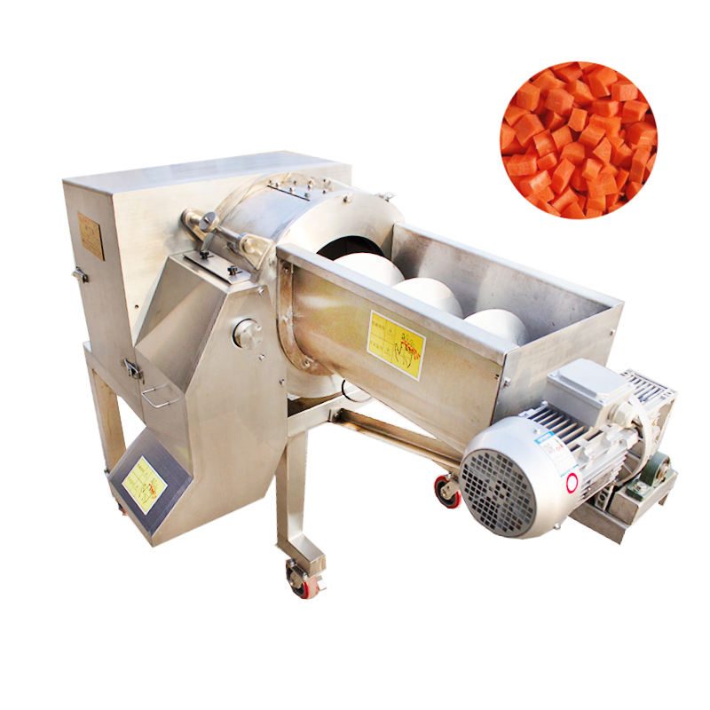 Automatic large-scale efficient vegetable and fruit dicing machine