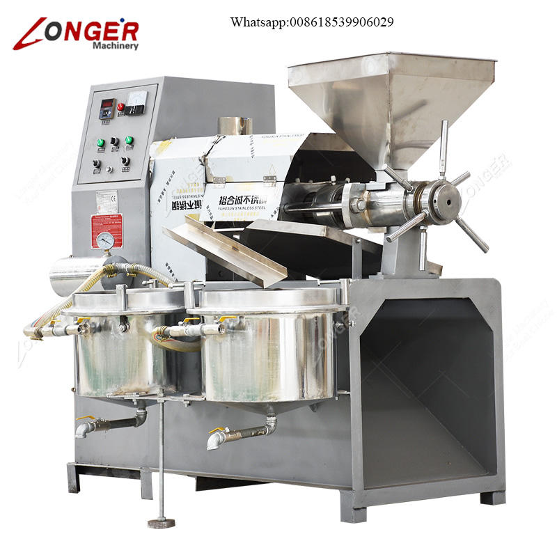 Automatic Rapeseed Soybean Palm Seeds Peanut Mustard Sesame Oil Pressers Extracting Olive Oil Extraction Machine