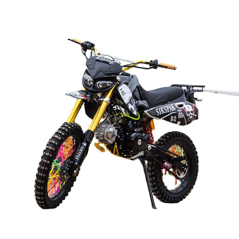 Dirtbike 4 Takt Grote Wiel Dirt Pit Bike Benzine Motorfietsen 125 Cc 50cc 250cc Air Cool Kick En Elektrische Start off Road