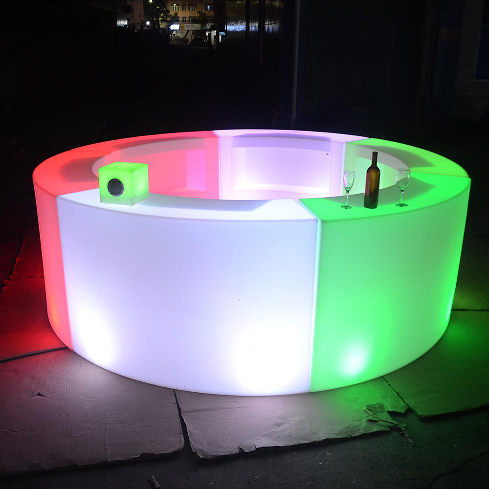 Dijual Desain Batang Lurus Led Berubah Warna/Led Mobile Bar Portable Cocktail Bar Counter Tahan Air
