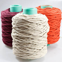 200m per roll Twist sginle strand  cuerda macrame cord cotton string rope 3mm 4mm 5mm