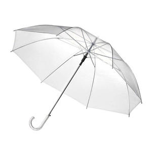 Mini foldable custom transparent umbrella clear umbrella with logo prints for adults and kids