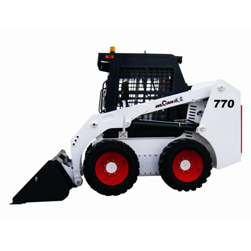 Higher Fuel Efficiency Wecan EPA Engine 650Kg Skid Steer Loader With Spare Parts