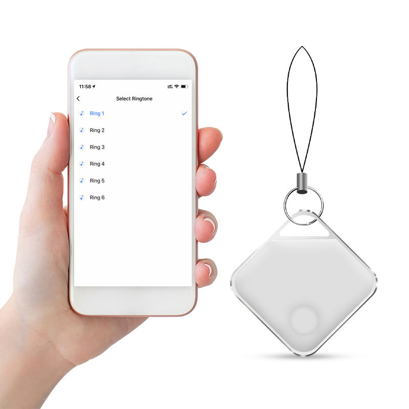 Wireless anti lost Keychain alarm itag smart tracking device ble phone key finder for pet dog wallet locator