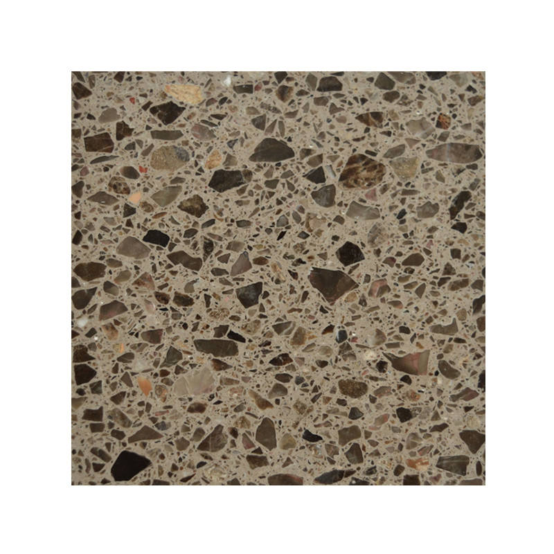 Kitchen brown floor terrazzo tiles 30x30