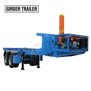 China factory sale customized atv 2 axles container chassis skeleton tipping semi trailer