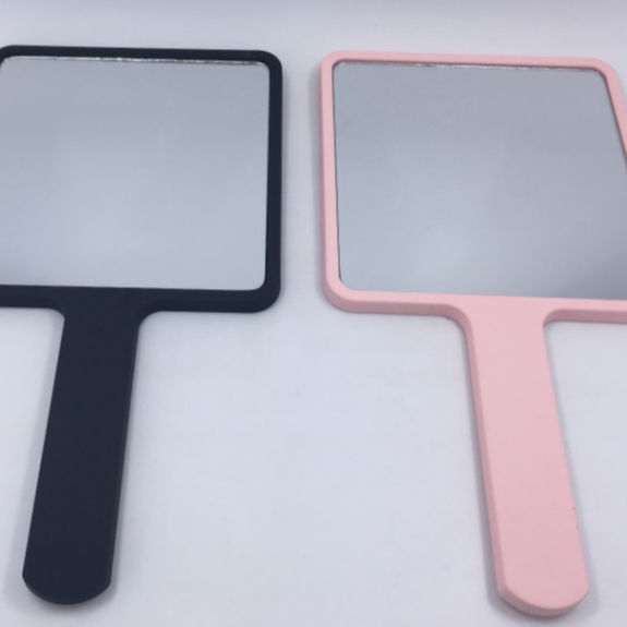 Single Sides and Plastic Frame Material handheld mirror
