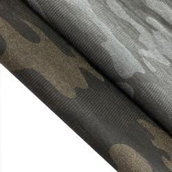 Camouflage Style Foil Coating NR Stretch Bengaline Woven Fabric For Women Garments