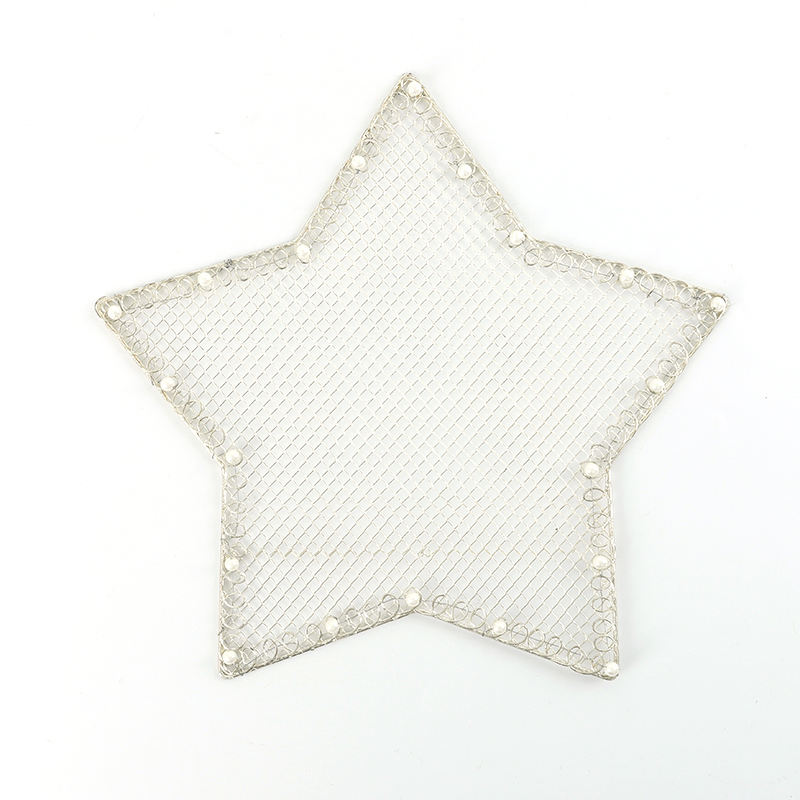 The Latest Design Promotion Metal Wire Lace Five-pointed Star Coaster Insulated And Waterproof Table Placemat Pet Placemat