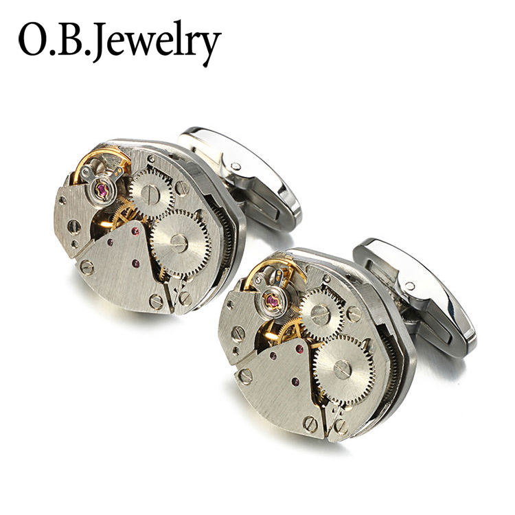 Fashionable MenのJewelry Accessories Hot Selling Tourbillon Cuff Links High-クラスMechanism Cufflinks For Menの