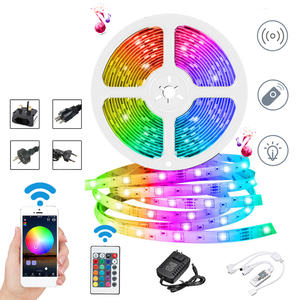 SMD5050 RGB WIFI LED רצועת אור עמיד למים RGB Led סרט קלטת מרחוק WIFI IR בקר 12V כוח Adapte led אור רצועת wifi