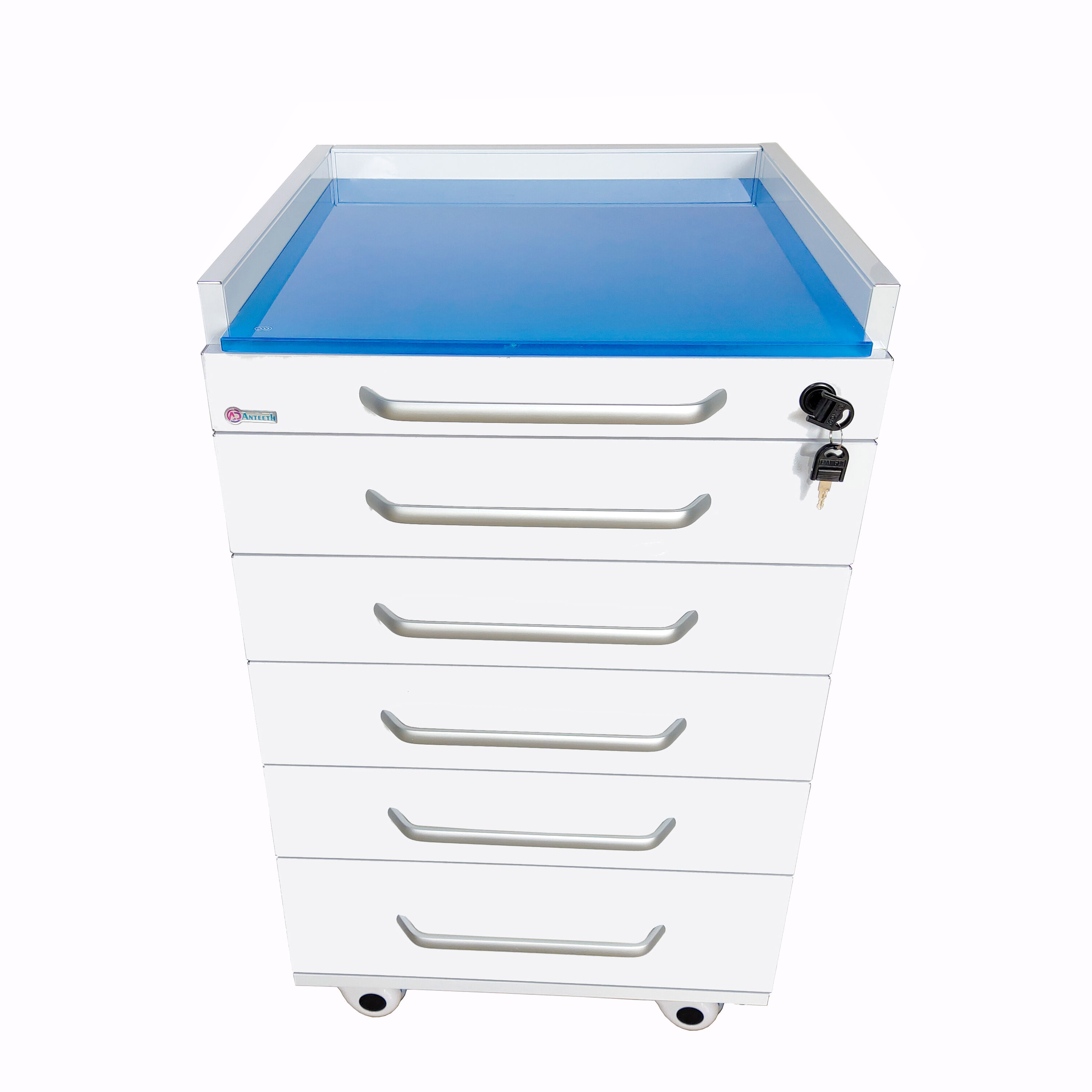 dental supply 5 drawers mobile cabinet