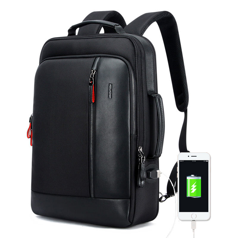 15.6 Inch Laptop Backpack Anti theft Enlarge Backpack USB External Charge Men Waterproof Business Laptop Backpack