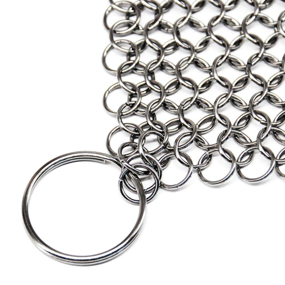 Hoge Kwaliteit Anti-Roest Ronde Rvs <span class=keywords><strong>Chainmail</strong></span> <span class=keywords><strong>Scrubber</strong></span> Met Hoek Ringen