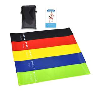 Amazon Custom Logo Latex Gym Exercise Yoga Elastic Stretch Bands fitness Resistance Band handles