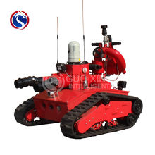 RXR-M40D-880T rubber steel track chassis fire fighting robot
