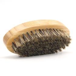 Wooden beard brush men's flower bristles brush oval wooden brush can engrave LOGO men's styling tool
