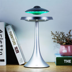 colorful changeable touch control switch  suspension bluetooth audio night light   float magnetic  levitation  table lamp