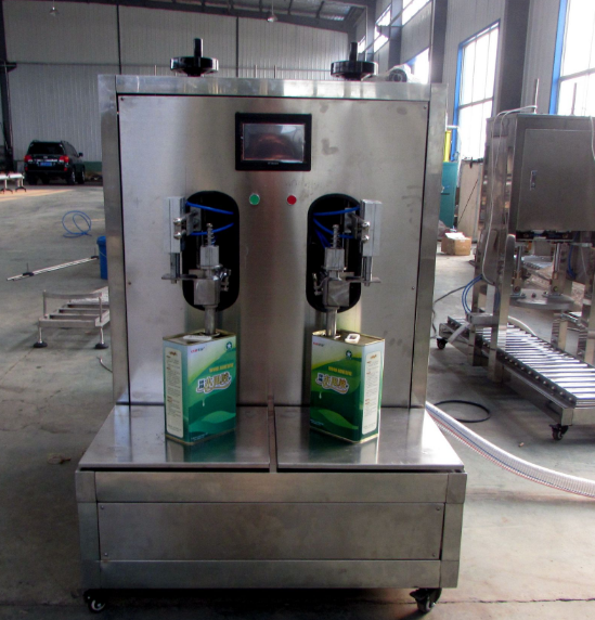 4L 20L 25L square metal tin can filling machine for edible oil olive oil