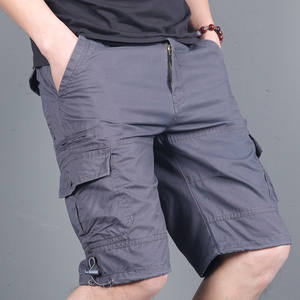 summer outdoor cargo pirate cropped casual knee length shorts with multiple pockets for men