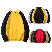 Autumn Crewneck Pullover Sweater Men Casual Tops T Shirt Polyester Sweatshirt Wholesale