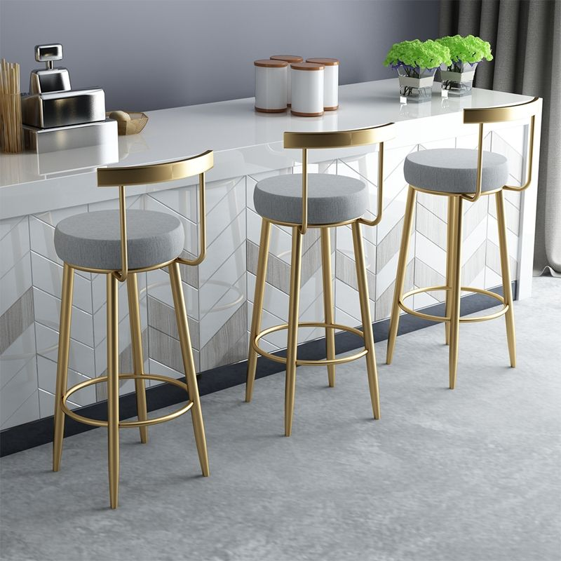 Chair Bar Counter Wholesale French Tall Table Restaurant Furniture Iron Luxury High Modern Gold Metal Stool Chair Bar