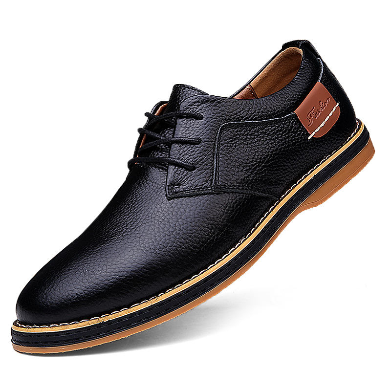 Loafers Dress Shoes Office Casual Formal Business 2019 Pu Leather Oxford Men Male Fashion Black