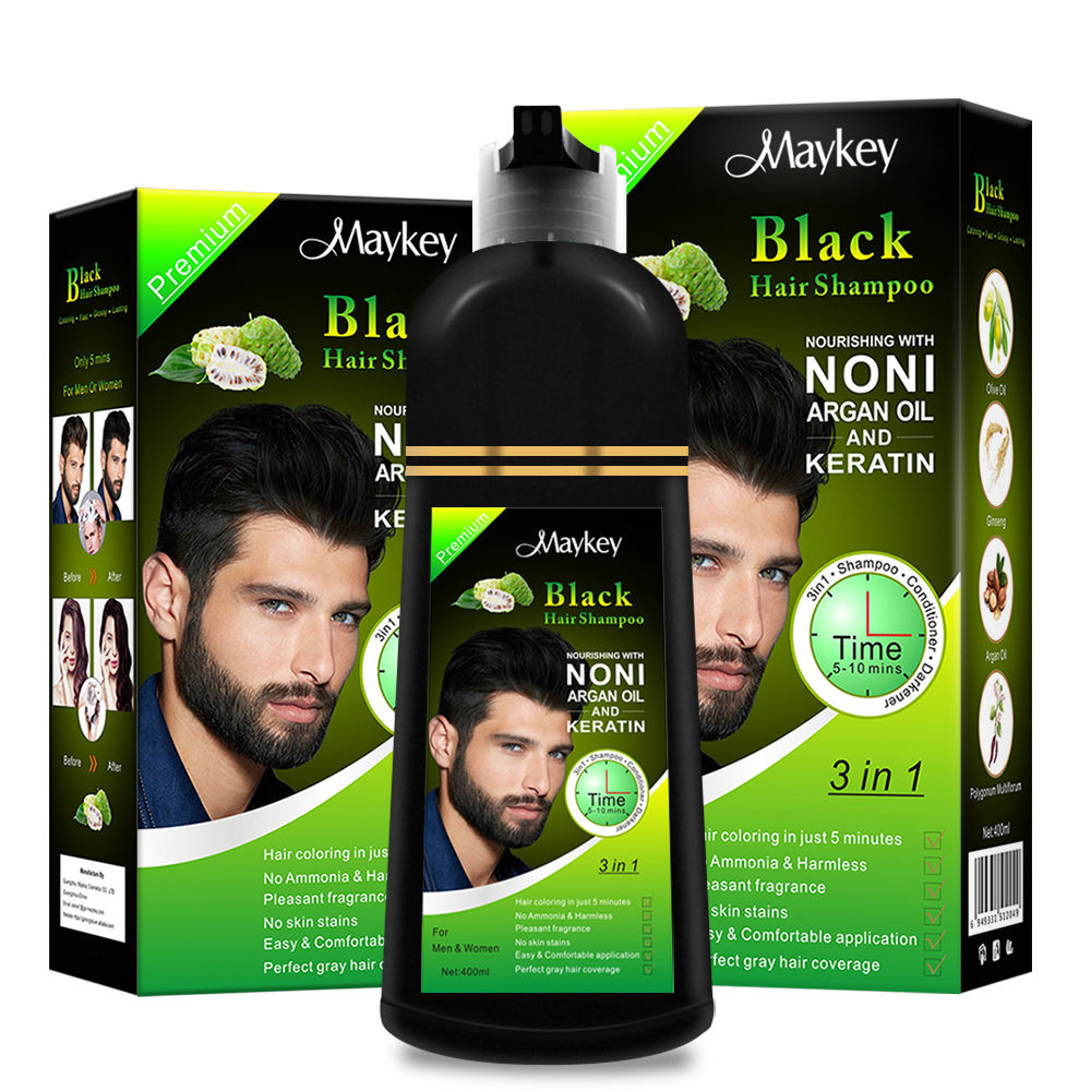 Hair color manicure dye for gray hair darkening shampoo use for arab black hair dye