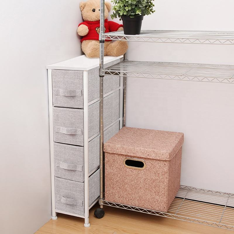 Special Hot Selling Tall Chest Of Drawers Modern 4-Drawer Narrow Chest Fabric Drawer Chest