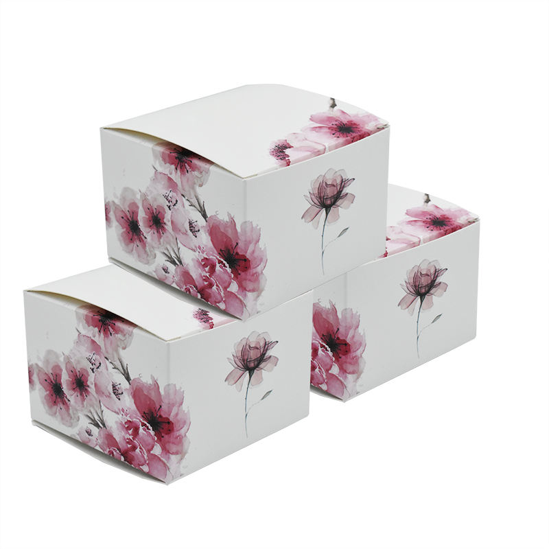 Beautiful empty candle jars for candle making paper box packaging square boxes custom logo