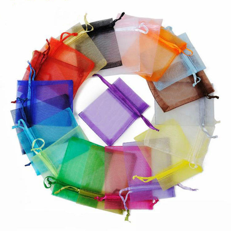 BP1008 Wholesale cheap organza pouch wedding favor xmas christmas gift jewelry packing pouches bags