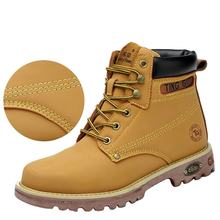 Men's Safety Steel Toe Work Boots Desert Military Waterproof Leather Ankle Shoes
