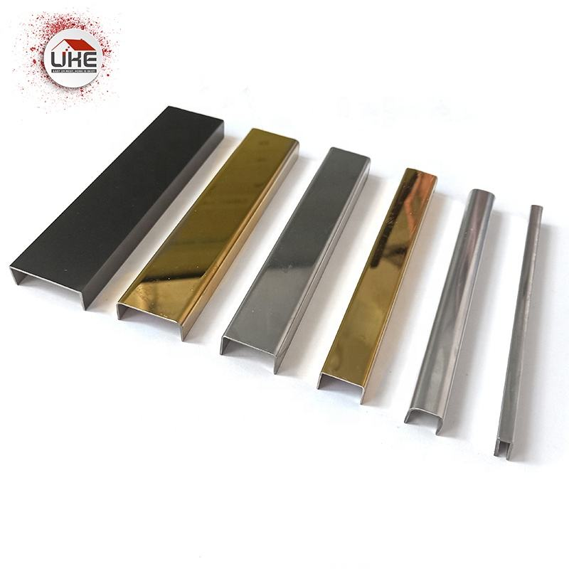 Stainless Steel Tile Edge Banding Trim Panel U Profile Indoor Decorative Wall Protectors accessories