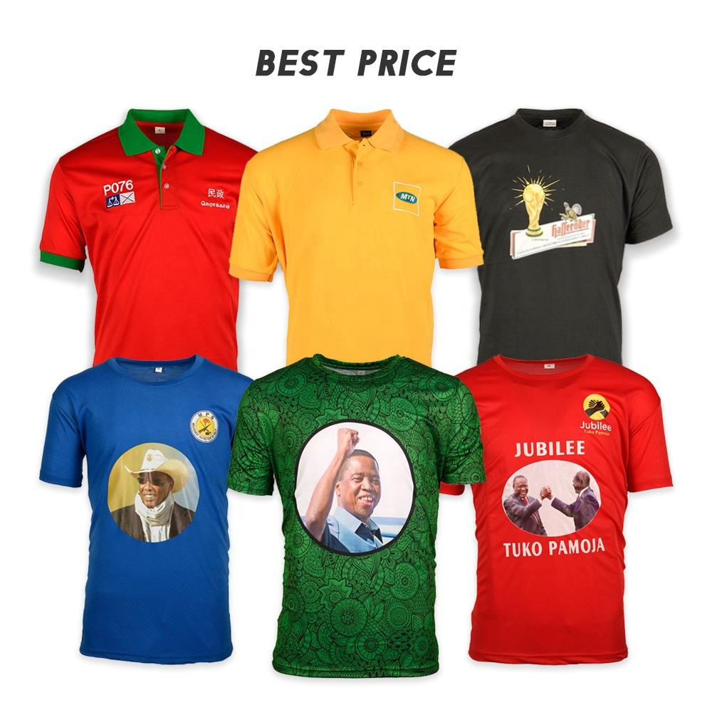 T-shirt Election And Promotion Dry Fit O-Neck T Shirt With Full Color Sublimation Printing Wholesale OEM ODM Made In China